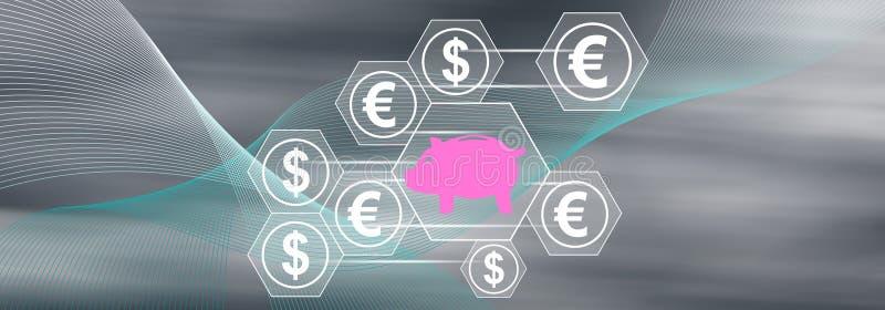 Concept of saving money royalty free stock photos