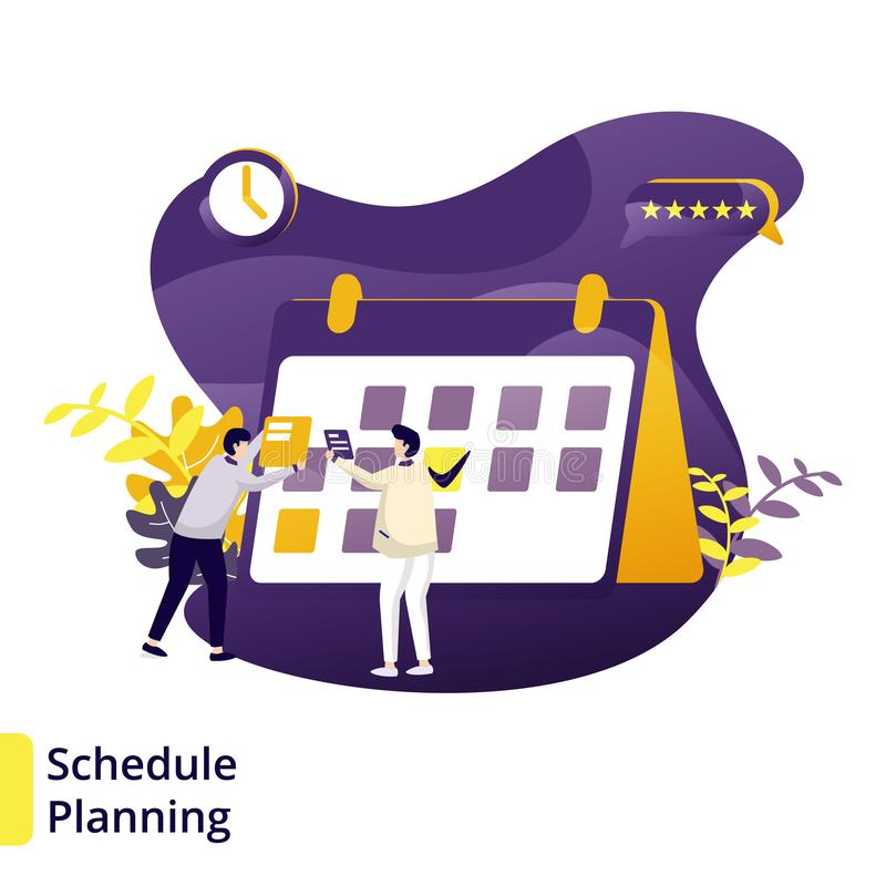 Illustration Schedule Planning stock illustration