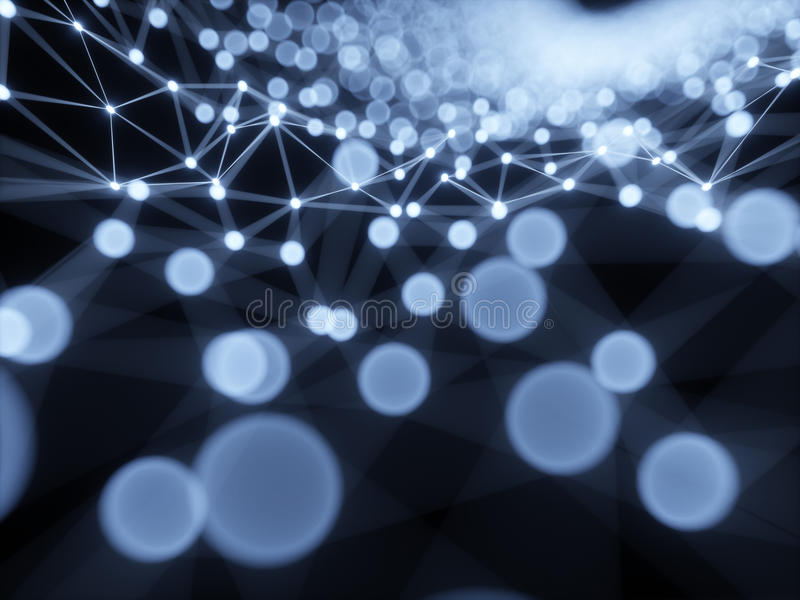 Illustration scientifique abstraite du fond 3d de structure de graphique ou de nano illustration libre de droits