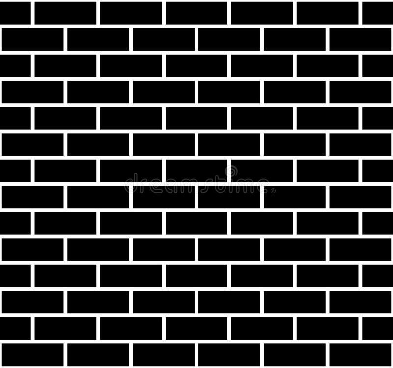 Illustration of seamless brick wall. Isolated on white vector illustration