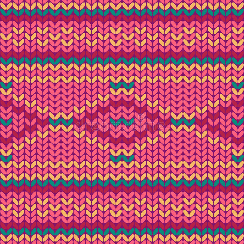 Illustration seamless knitted pattern. Seamless knitted pattern. Seamless pattern can be used for wallpaper, pattern fills, web page background. Vector vector illustration