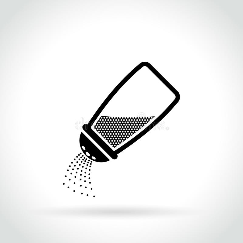 Seasoning bottle icon on white background. Illustration of seasoning bottle icon on white background vector illustration