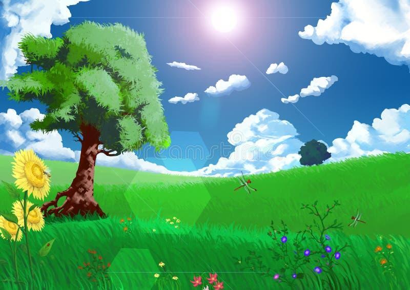 Illustration: Seasons: Summer. vector illustration