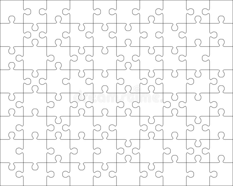 Parts of white puzzle royalty free stock photos