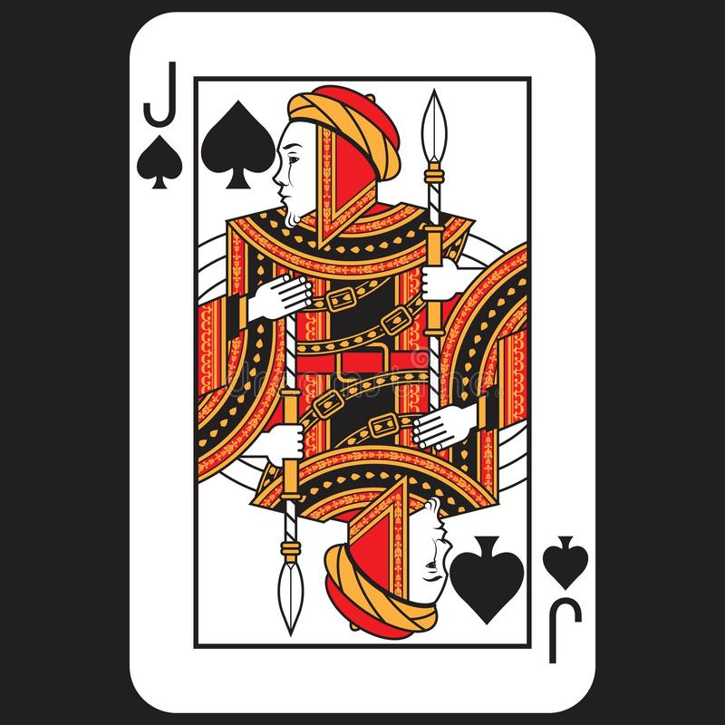 Card Poker Jack stock images