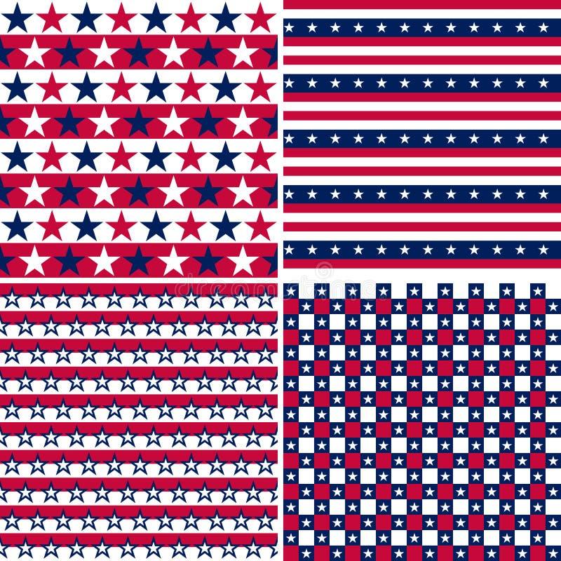 Usa seamless pattern stock illustration