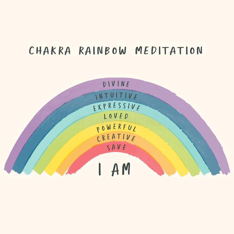 Chakra_rainbow_pastel stock photo