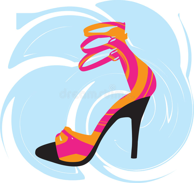 Illustration sexy de chaussures illustration stock