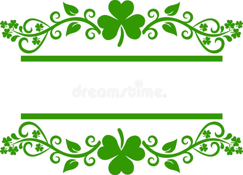 shamrock border stock image illustration of pattern 109751547 rh dreamstime com
