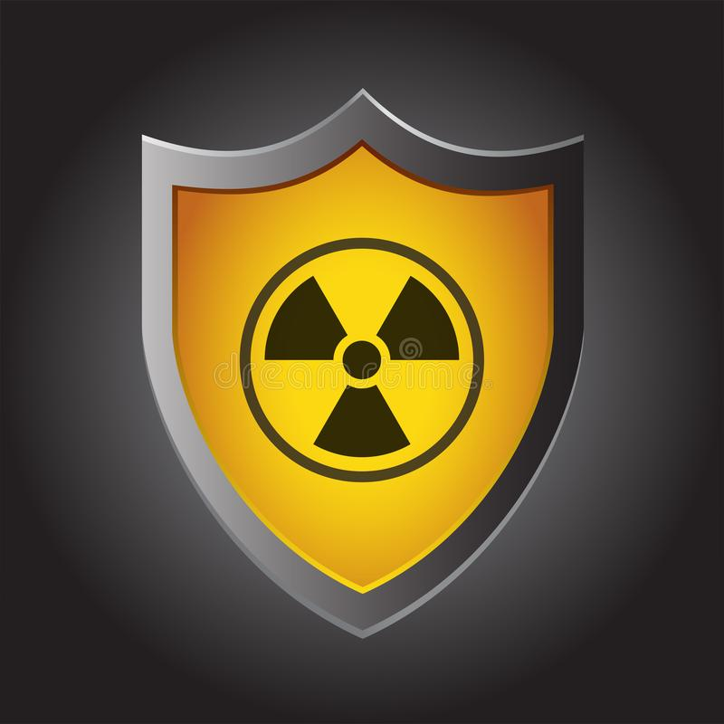 Radioactivity Symbol On Shield Stock Illustration Illustration Of