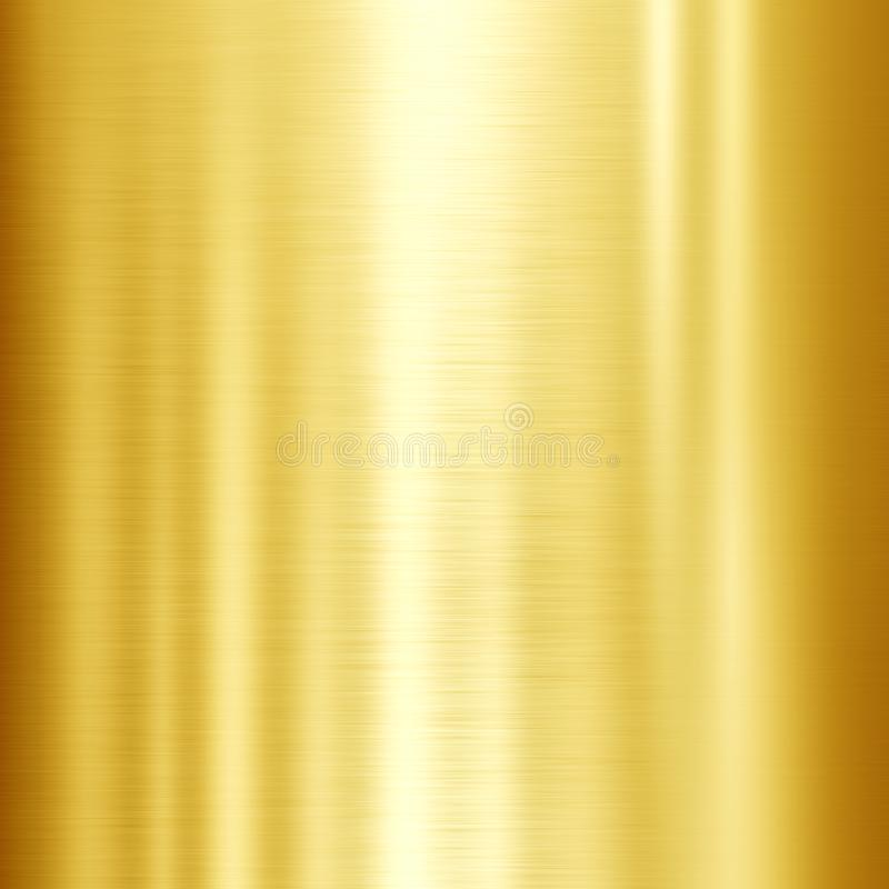 Gold metal texture. Illustration of shiny gold metal texture background vector illustration