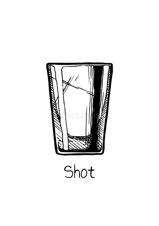 Illustration of shot glass royalty free illustration