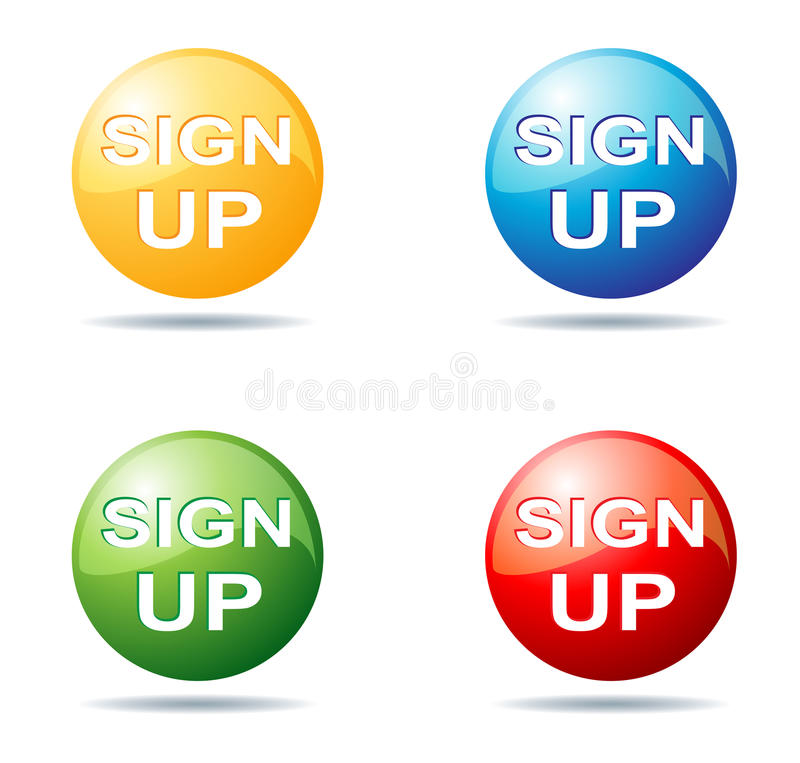Sign up button. Illustration of sign up button collection stock illustration