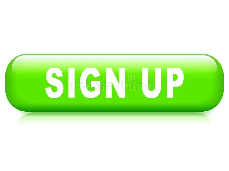 Sign up button stock illustration