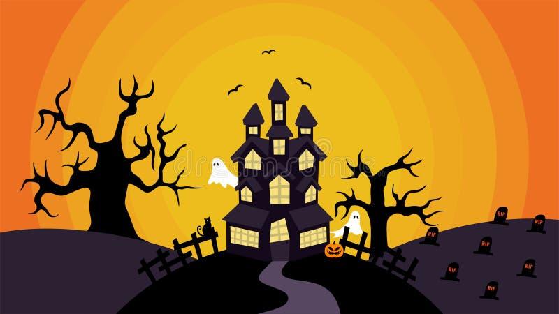 Illustration simple de Chambre de Halloween par Pitripiter image stock