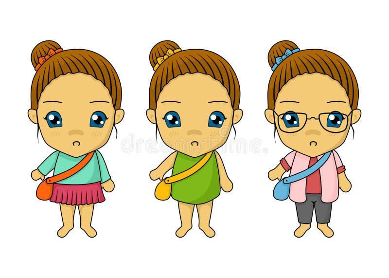 Illustration simple de triplet mignon illustration de vecteur