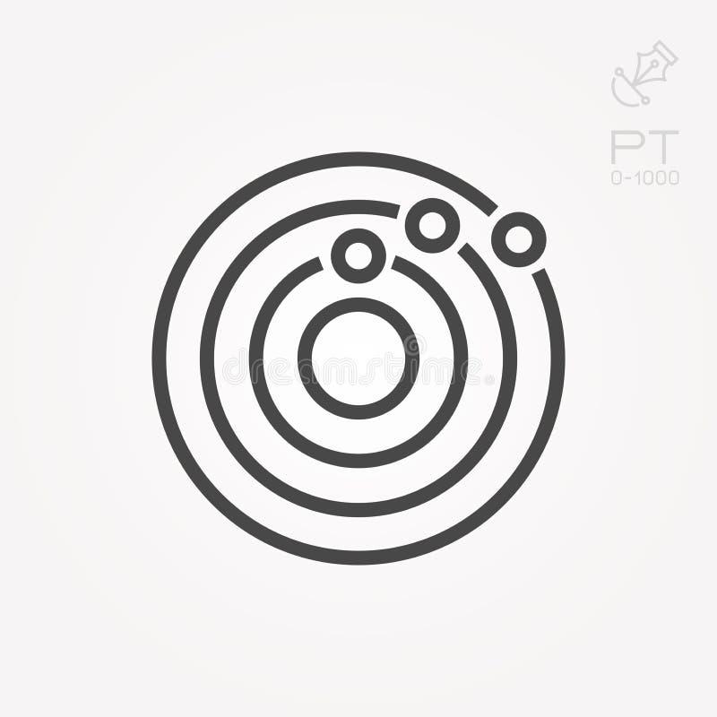 Illustration simple de vecteur avec la capacit? de changer Ic?ne de syst?me solaire illustration stock