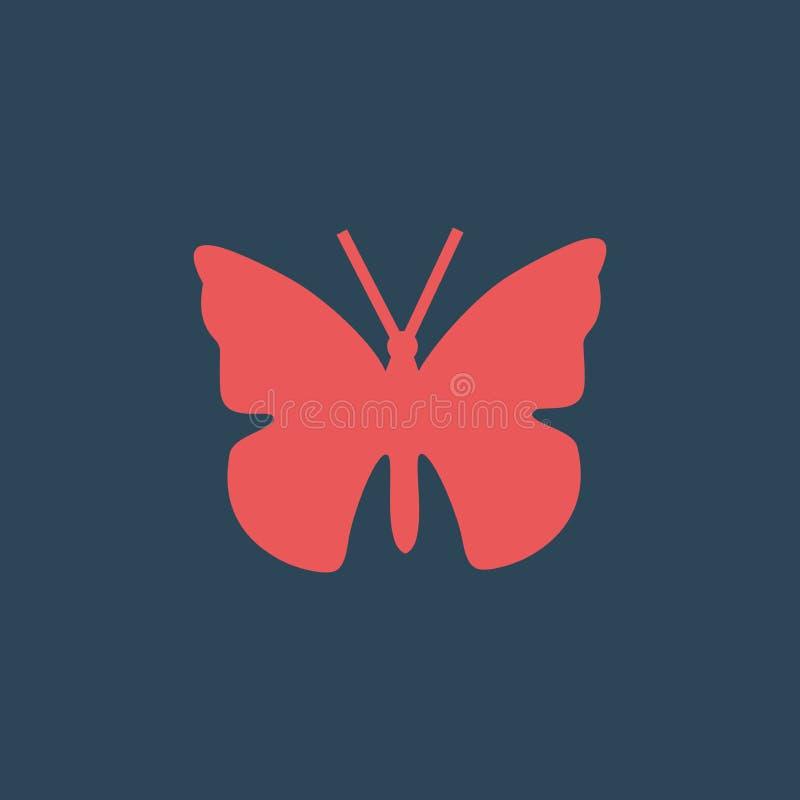 Illustration simple de vecteur avec la capacit? de changer Papillon d'ic?ne de silhouette illustration libre de droits