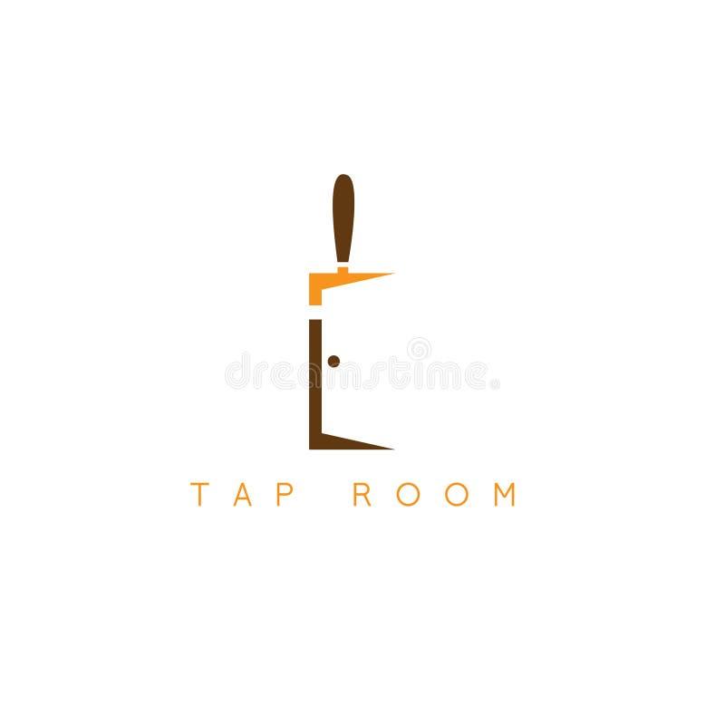 Illustration simple de vecteur de porte et de bière illustration libre de droits