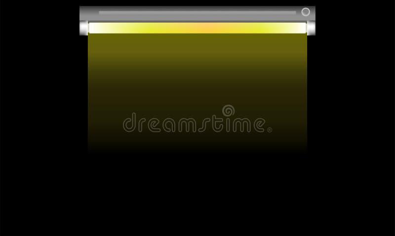 Illustration simple de vecteur de style de lampe fluorescente sur le fond noir illustration libre de droits
