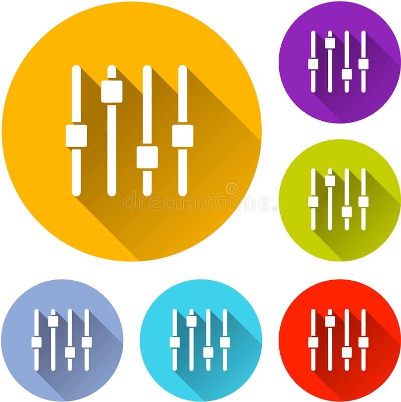 Six control icons royalty free illustration
