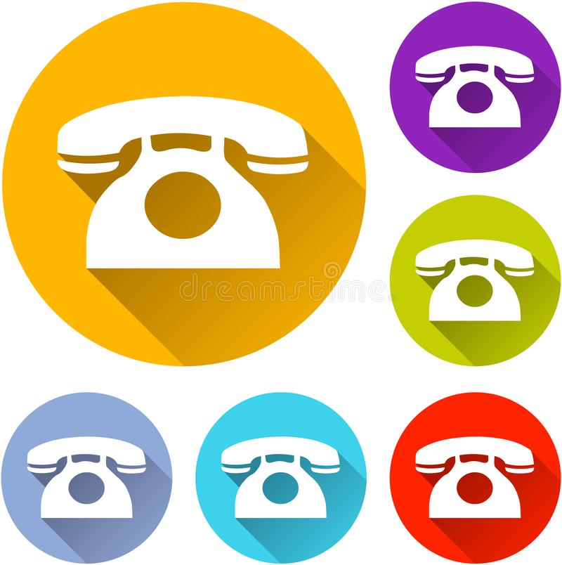 Six phone icons stock illustration