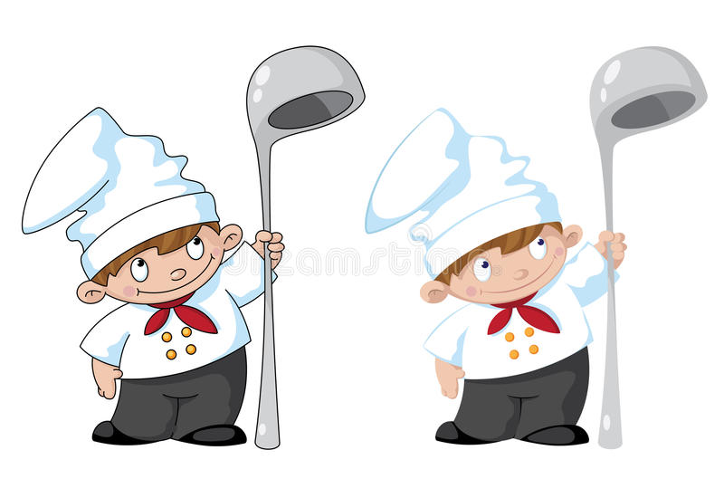 Download Small cook stock vector. Image of towel, restaurant, cookery - 29733335