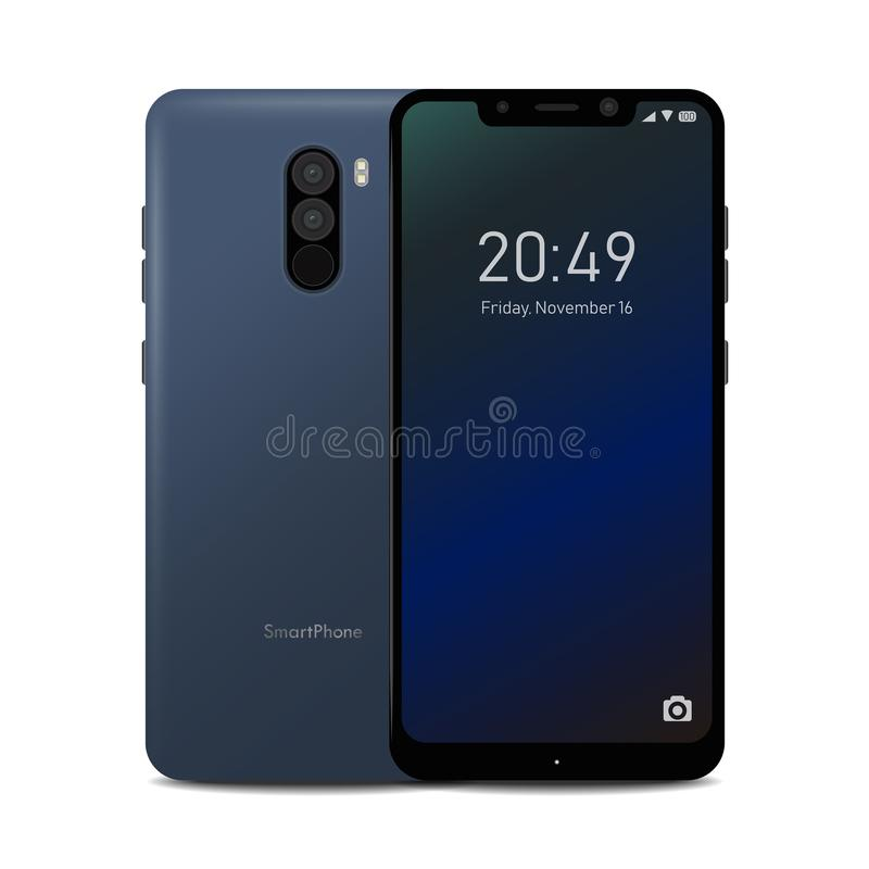 Smartphone with Notch Display. Illustration of a Smartphone with Notch Display vector illustration
