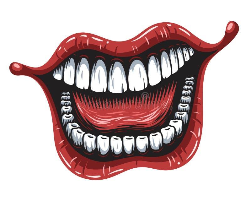 Illustration of smiling mouth royalty free illustration