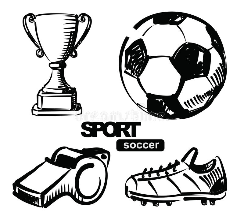 Download Illustration of soccer stock vector. Image of graphic - 28897163