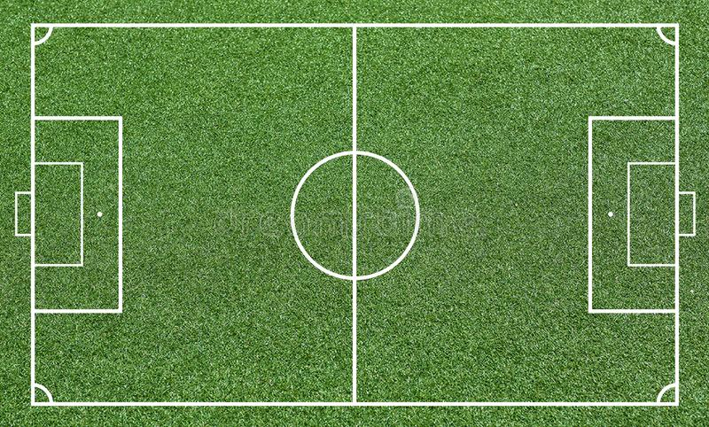 Illustration of a soccer field. Football field or soccer field background. Vector green court for create game. wold cup 2018 stock images