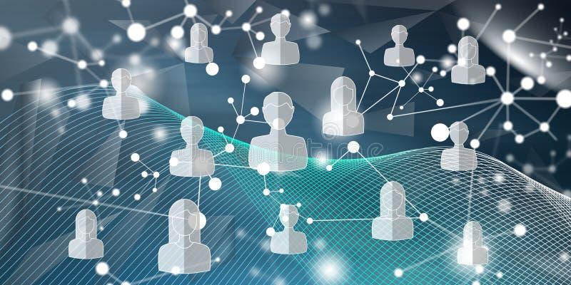 Concept of social media network. Illustration of a social media network concept royalty free illustration