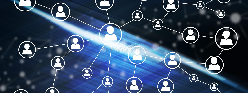 Concept of a social media network. Illustration of a social media network concept stock illustration
