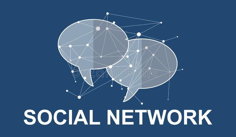 Concept of social network. Illustration of a social network concept royalty free illustration