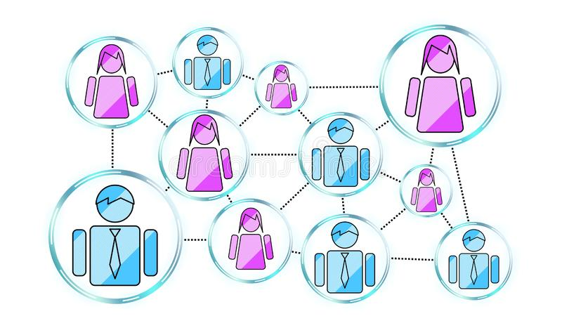 Concept of social network stock illustration