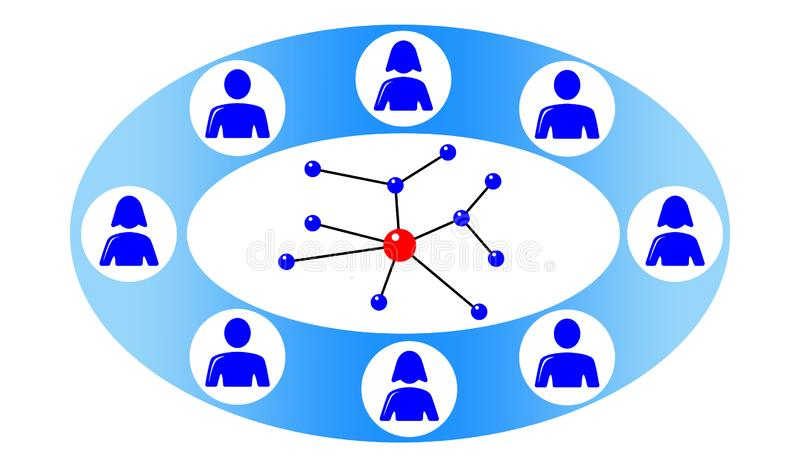 Concept of social network royalty free illustration