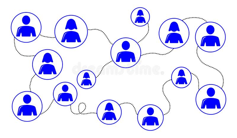 Concept of social network vector illustration