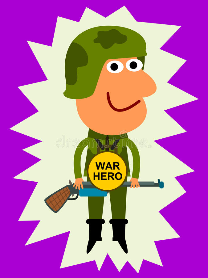 Download War hero stock illustration. Image of soldier, male, courage - 30031918