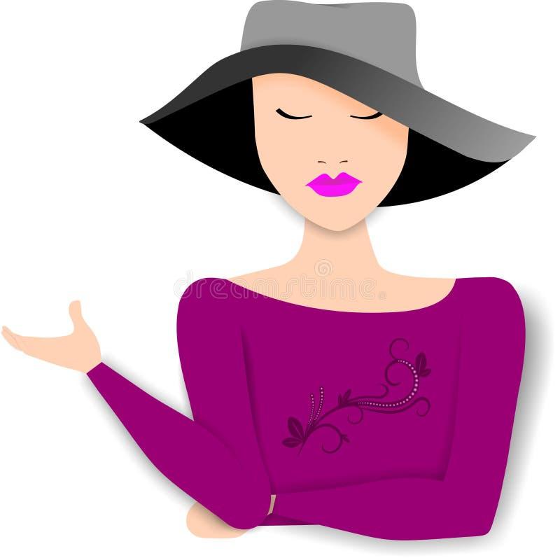 Illustration sophistiquée de conseillère de femme illustration libre de droits