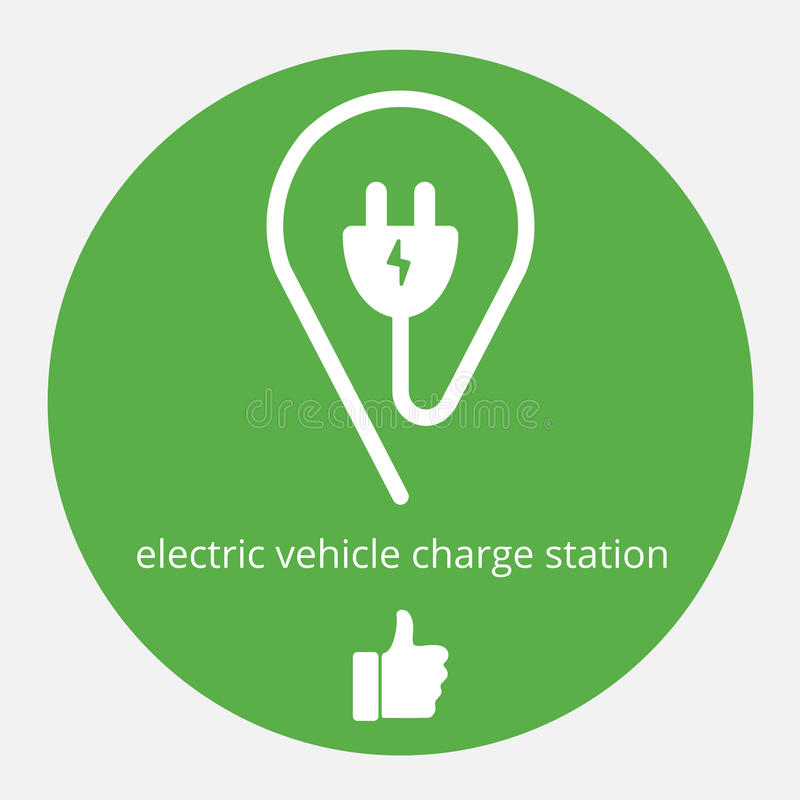 Illustration of space electric charge. Isolated electric vehicle charge station. Electric supercharger vector icon with vector illustration
