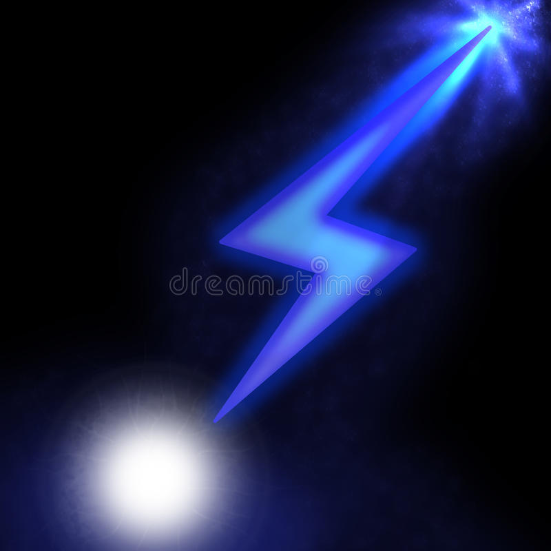 Download Illustration Of Sparkling Lightning Bolt With Electric Effect Stock