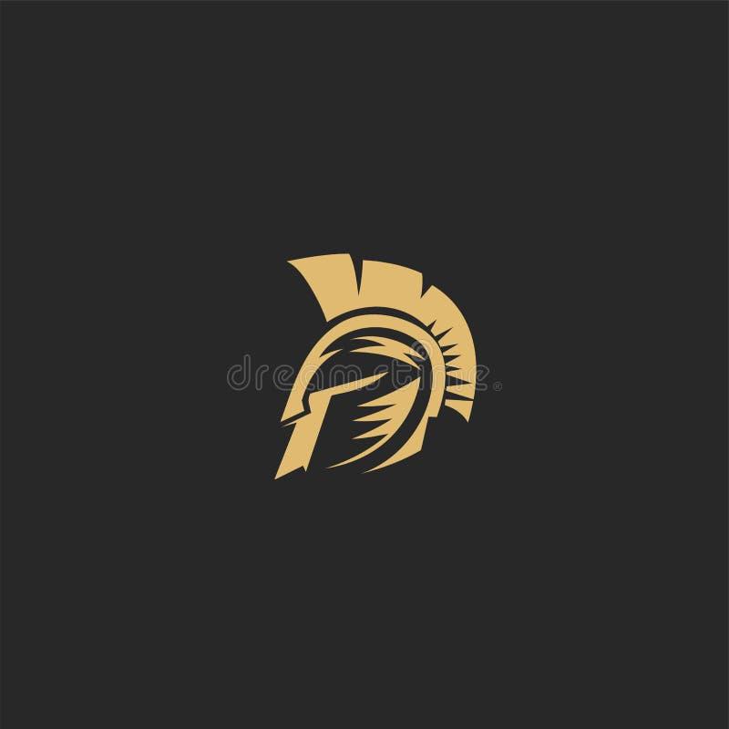 Illustration spartiate d'or de vecteur de helmat illustration libre de droits