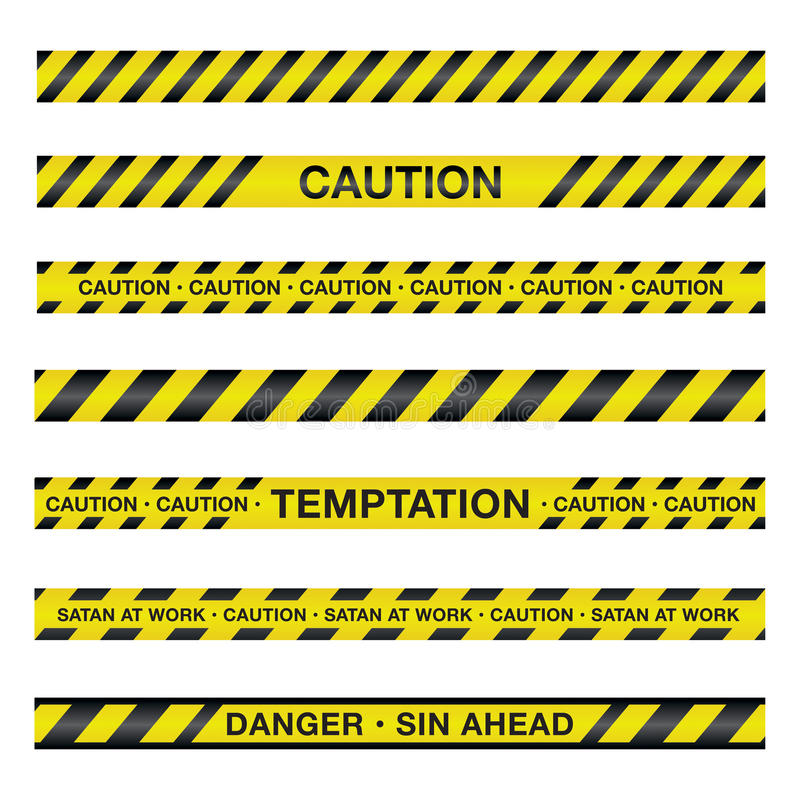 Illustration spirituelle de bande de précaution illustration stock