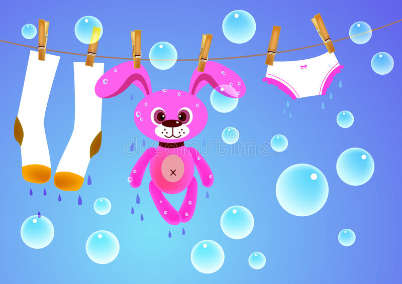 Hanging toy, cloth royalty free illustration