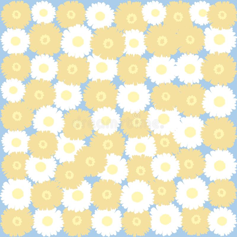 gentle background with daisies and dandelions  royalty free stock photography