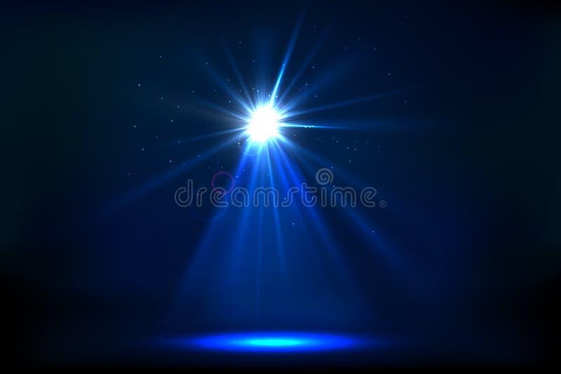 Spot Light. Illustration of stage for performance with spot light stock illustration
