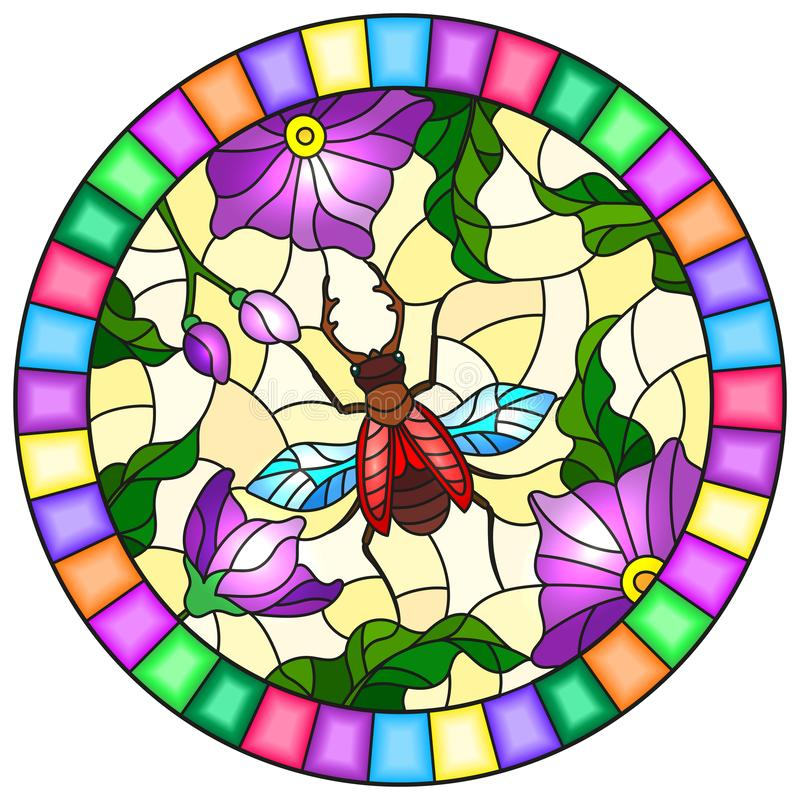 Sweet Beetle Stained glass pattern