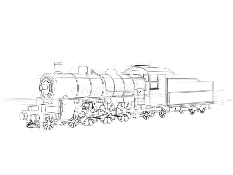 Illustration of a steam locomotive stock illustration download illustration of a steam locomotive stock illustration illustration of blueprint business malvernweather Gallery