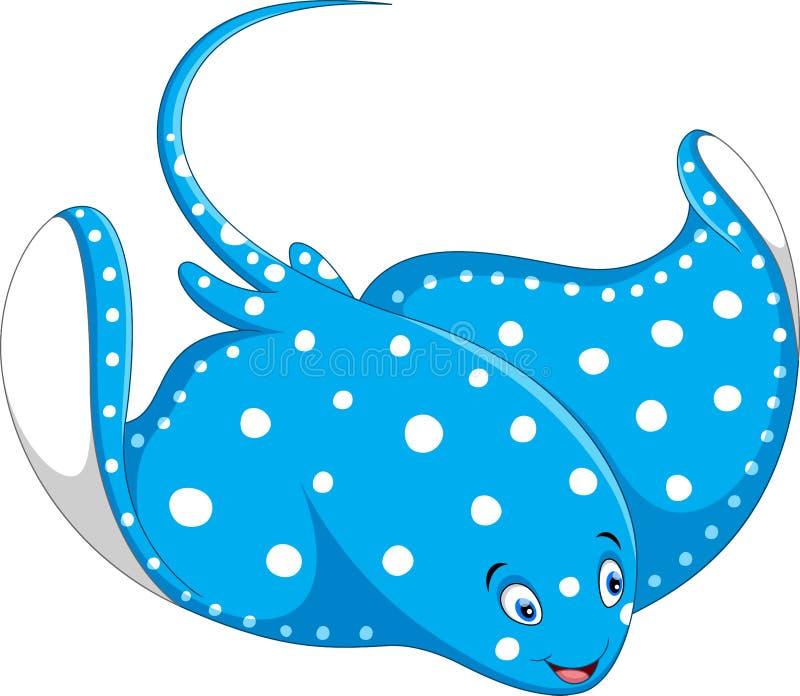 Illustration of stingray fish cartoon. Isolated on white background royalty free illustration