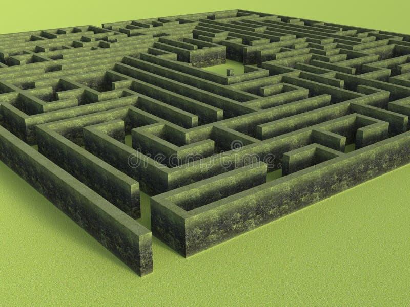 Stone Wall Puzzle Maze Background royalty free stock photo